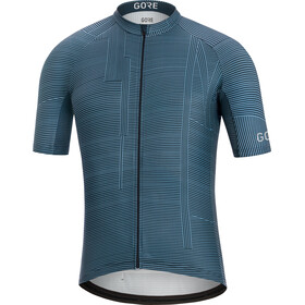 GORE WEAR C3 Line Brand Maillot de cyclisme Homme, deep water blue/orbit blue